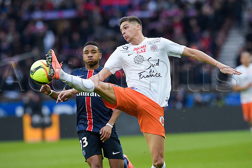 05.03.2016. Paris, France. French League 1 football. Paris St Germain versus Montpellier.  MARTIN Jonas (Montpellier)