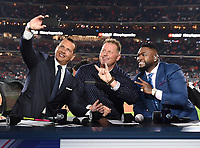 HOUSTON - OCTOBER 29: Alex Rodriguez, Roger Clemens, and David Ortiz at World Series Game 6: Washington Nationals at Houston Astros on Fox Sports at Minute Maid Park on October 29, 2019 in Houston, Texas. (Photo by Frank Micelotta/Fox Sports/PictureGroup)