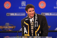 Julian Valentin, the 29th overall pick in the draft was selected by the Los Angeles Galaxy  during the MLS SuperDraft at the Baltimore Convention Center in Baltimore, MD, on January 18, 2008.