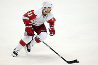 03/02/11 Anaheim, CA: Detroit Red Wings right wing Daniel Cleary #11 during an NHL game between the Detroit Red Wings and the Anaheim Ducks at the Honda Center. The Ducks defeated the Red Wings 2-1 in OT.