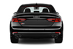 Straight rear view of a 2017 Audi S5 Sportback Base 5 Door Hatchback stock images