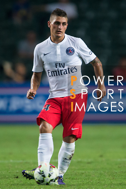Marco Verratti of Paris Saint-Germain in action during Kitchee SC vs Paris Saint-Germain during the The Meeting of Champions on July 29, 2014 at the Hong Kong stadium in Hong Kong, China.  Photo by Aitor Alcalde / Power Sport Images