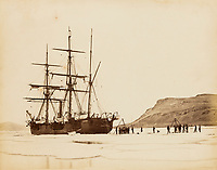 BNPS.co.uk (01202 558833)<br /> Pic: Forum Auctions/BNPS<br /> <br /> An archive belonging to a British naval officer who took part in an ill-fated attempt to reach the North Pole 144 years ago has sold for over £75,000.<br /> <br /> Reginald Baldwin Fulford's mementos of the British Arctic Expedition of 1875-76 were sold by his descendants with Forum Auctions, of London.<br /> <br /> They included previously unseen photos, his metal framed snow glasses, his 'Arctic' china tea cup and saucer, his Arctic Medal, his naval officer's dress sword and a silk sledge flag.<br /> <br /> The collection had been expected to fetch £10,000, but sparked fervent bidding on the day - achieving over seven times their estimate.<br /> <br /> The expedition, led by Sir George Strong Nares, sailed from Portsmouth, Hants, on two ships, HMS Alert and HMS Discovery, on May 29, 1875.