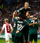 Nederland, Amsterdam, 3 oktober  2012.Seizoen 2012-2013.Champions League.Ajax_Real Madrid.Christiano Ronaldo van Real Madrid scoort de 0-1