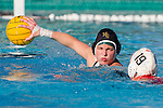 Manhattan Beach, CA 02/09/11 - unidentified Mira Costa player and Jaycee Baldus (Redondo Union #19) in action during the final regular season game at Mira Costa High School, Mira Costa defeated Redondo 12-6 for a Bay League title.