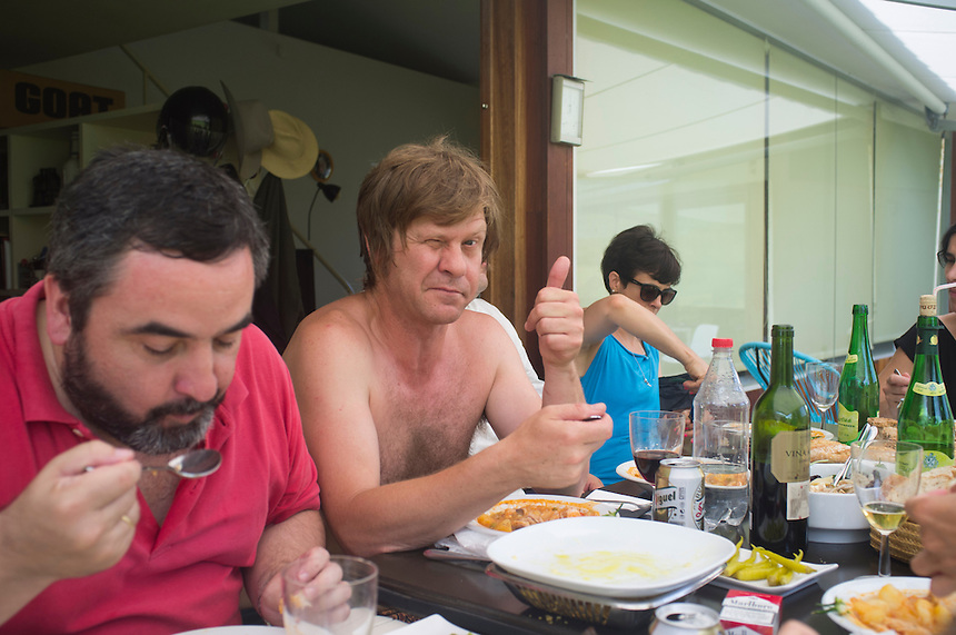 Lunch with friends at Mikel´s house. Bilbao, Spain