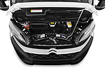 Car Stock 2019 Citroen Jumper - 2 Door Cutaway Engine  high angle detail view