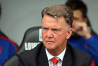 Pictured: Manchester United manager Louis Van Gaal Sunday 30 August 2015<br /> Re: Premier League, Swansea v Manchester United at the Liberty Stadium, Swansea, UK