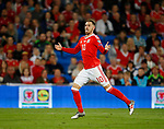 Aaron Ramsey of Wales reacts as a shot goes over the bar during the World Cup Qualifying Group D match at the Cardiff City Stadium, Cardiff. Picture date 2nd September 2017. Picture credit should read: Simon Bellis/Sportimage