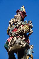 Kindlifresser-Brunnen am Kornhausplatz in Bern, Schweiz, Unesco-Weltkulturerbe