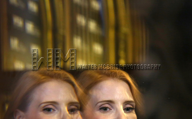 "Jessica Chastain during the 2013 Tiff Film Festival Gala Red Carpet Premiere for ""The Disappearance of Eleanor Rigby""  at the Elgin Theatre  on September 9, 2013 in Toronto, Canada."