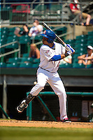 Jorge Polanco (11) of the Chattanooga Lookouts bats during a game between the Jackson Generals and Chattanooga Lookouts at AT&T Field on May 10, 2015 in Chattanooga, Tennessee. (Brace Hemmelgarn/Four Seam Images)