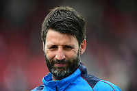 Lincoln City manager Danny Cowley during the pre-match warm-up <br /> <br /> Photographer Chris Vaughan/CameraSport<br /> <br /> Vanarama National League - Lincoln City v Macclesfield Town - Saturday 22nd April 2017 - Sincil Bank - Lincoln<br /> <br /> World Copyright &copy; 2017 CameraSport. All rights reserved. 43 Linden Ave. Countesthorpe. Leicester. England. LE8 5PG - Tel: +44 (0) 116 277 4147 - admin@camerasport.com - www.camerasport.com