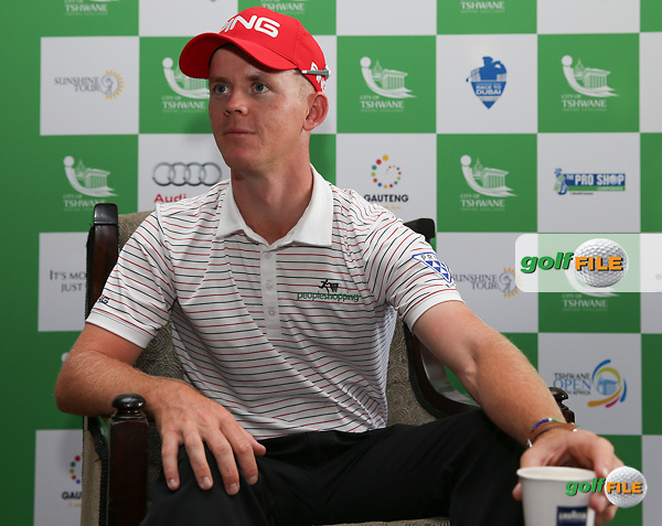 SA Champion Brandon Stone (RSA) brimming with confidence of young emerging SA players but recognising the depth of experience of established players, during the preview days of the 2016 Tshwane Open, played at the Pretoria Country Club, Waterkloof, Pretoria, South Africa.  10/02/2016. Picture: Golffile | David Lloyd<br /> <br /> All photos usage must carry mandatory copyright credit (&copy; Golffile | David Lloyd)