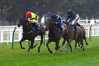 Winner of The Fovant Fillies' Handicap  Clever Candy ridden by Kieran Shoemark and trained by Michael Bell during Horse Racing at Salisbury Racecourse on 13th August 2020