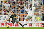"Karim Benzema and Claudio Bravo during the Spanish league ""Clasico"" football match Real Madrid CF vs FC Barcelona at the Santiago Bernabeu stadium in Madrid on October 25, 2014.  PHOTOCALL3000 / DP"