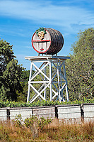 Giant decorative wine barrel at the Truro Vineyards, Truro, Cape Cod, MA, USA