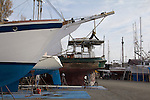 Port Townsend, Boat Haven Marina, boats, Puget Sound, Washington State, boatyard, boats hauled out, Jefferson County, Olympic Peninsula, Pacific Northwest, United States,