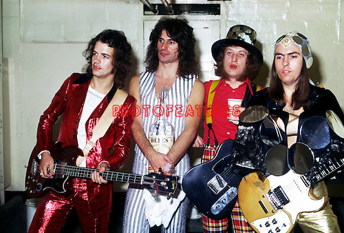 Slade 1973 Jim Lea, Don Powell, Noddy Holder and Dave Hill.© Chris Walter.