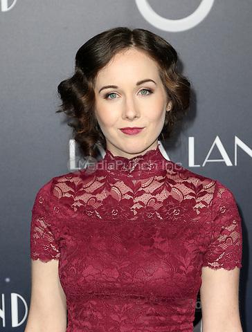 "Westwood, CA - DECEMBER 06: Anna Chazelle, At Premiere Of Lionsgate's ""La La Land"" At Mann Village Theatre, California on December 06, 2016. Credit: Faye Sadou/MediaPunch"