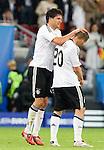 Michael Ballack, Lukas Podolski, Euro 2008. Germany-Poland in Klagenfurt (Austria) 06082008.