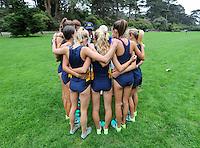 SAN FRANCISCO, CA., September 3, 2016,—Cal Women Cross Country at the San Francisco Invitational at Golden Gate Park .