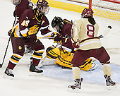Jessica Wong (UMD - 49), Kayla Black (UMD - 1), Dana Trivigno (BC - 8) -  - The visiting University of Minnesota Duluth Bulldogs defeated the Boston College Eagles 3-2 on Thursday, October 25, 2012, at Kelley Rink in Conte Forum in Chestnut Hill, Massachusetts.