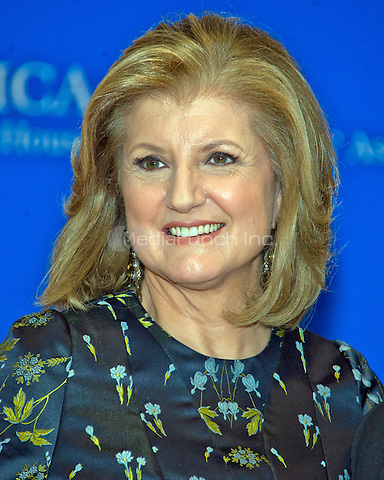 Arianna Huffington arrives for the 2016 White House Correspondents Association Annual Dinner at the Washington Hilton Hotel on Saturday, April 30, 2016.<br /> Credit: Ron Sachs / CNP<br /> (RESTRICTION: NO New York or New Jersey Newspapers or newspapers within a 75 mile radius of New York City)/MediaPunch