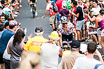 Polka Dot Jersey Warren Barguil (FRA) Team Sunweb climbs during Stage 15 of the 104th edition of the Tour de France 2017, running 189.5km from Laissac-Severac l'Eglise to Le Puy-en-Velay, France. 16th July 2017.<br /> Picture: ASO/Alex Broadway   Cyclefile<br /> <br /> <br /> All photos usage must carry mandatory copyright credit (&copy; Cyclefile   ASO/Alex Broadway)