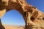 Israel, Eilat Mountains, the Arch in Timna Valley