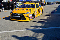 13-21 February, 2016, Daytona Beach, Florida USA<br /> As the shadows of fans atop the Sprint Fandeck fall across the pavement in the garage area the car of Kyle Busch, M&M's 75 Toyota Camry rolls out to the track.<br /> ©2016, F. Peirce Williams