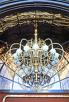 Las Vegas: Barbary Coast--outdoor chandelier. Photo '79.