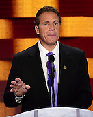 Governor Andrew Cuomo (Democrat of New York) makes remarks during the fourth session of the 2016 Democratic National Convention at the Wells Fargo Center in Philadelphia, Pennsylvania on Thursday, July 28, 2016.<br /> Credit: Ron Sachs / CNP<br /> (RESTRICTION: NO New York or New Jersey Newspapers or newspapers within a 75 mile radius of New York City)