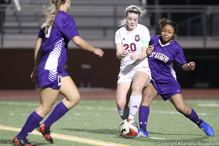 Chisholm Trial beats Saginaw 5-0 in girls' high school soccer on Tuesday, March 19, 2019. (Photo by Khampha Bouaphanh)