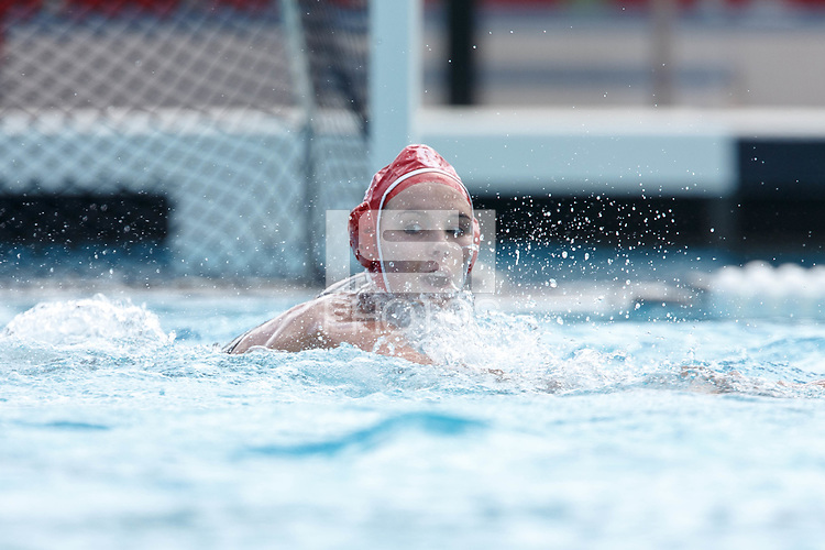 Stanford, CA - March 23, 2019: Hannah Shabb during the Stanford vs. Harvard women's water polo game at Avery Aquatic Center Saturday.<br /> <br /> The Cardinal won 20-7.