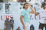 Tommy Fleetwood of England reacts after finishing the course during the 58th UBS Hong Kong Golf Open as part of the European Tour on 10 December 2016, at the Hong Kong Golf Club, Fanling, Hong Kong, China. Photo by Marcio Rodrigo Machado / Power Sport Images