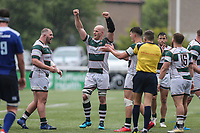 Celebrations at full time during the British & Irish Cup Final match between Ealing Trailfinders and Leinster Rugby at Castle Bar, West Ealing, England  on 12 May 2018. Photo by David Horn / PRiME Media Images.