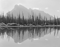 &quot;Rundle Reflection In Vermillion Lake&quot; <br />