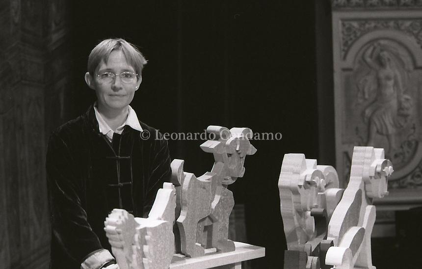 Susanna Tamaro, italian writer, Orvieto, 2001. © Leonardo Cendamo
