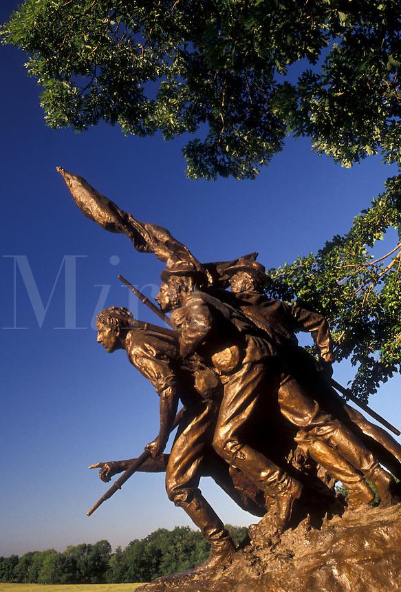AJ2708, Gettysburg, battlefield, civil war, battle, Gettysburg Military Park, Pennsylvania, The North Carolina Memorial on Seminary Ridge at Gettysburg National Military Park in Gettysburg in the state of Pennsylvania.