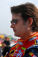 Feb 10, 2007; Daytona, FL, USA; Nascar Nextel Cup driver Jeff Gordon (24) during practice for the Daytona 500 at Daytona International Speedway. Mandatory Credit: Mark J. Rebilas
