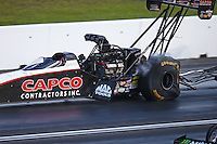 Jun 4, 2016; Epping , NH, USA; NHRA top fuel driver Steve Torrence during qualifying for the New England Nationals at New England Dragway. Mandatory Credit: Mark J. Rebilas-USA TODAY Sports