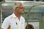 07 August 2008: head coach Foppe De Haan (NED).  The men's Olympic soccer team of the Netherlands played the men's Olympic soccer team of Nigeria at Tianjin Olympic Center Stadium in Tianjin, China in a Group B round-robin match in the Men's Olympic Football competition.
