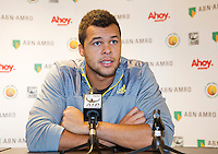 10-02-13, Tennis, Rotterdam,Press conference with Jo-Winfried Tsonga