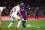 UEFA Champions League 2017/2018.<br /> Quarter-finals 1st leg.<br /> FC Barcelona vs AS Roma: 4-1.<br /> Lionel Messi.