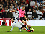 Eric Dier of England tackles Darren Fletcher of Scotland during the FIFA World Cup Qualifying Group F match at Wembley Stadium, London. Picture date: November 11th, 2016. Pic David Klein/Sportimage