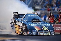 Jun. 29, 2012; Joliet, IL, USA: NHRA funny car driver Matt Hagan during qualifying for the Route 66 Nationals at Route 66 Raceway. Mandatory Credit: Mark J. Rebilas-