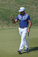 Rafael Cabrera Bello (ESP) acknowledges the gallery as he approaches his ball on the green on 11 during day 1 of the WGC Dell Match Play, at the Austin Country Club, Austin, Texas, USA. 3/27/2019.<br /> Picture: Golffile | Ken Murray<br /> <br /> <br /> All photo usage must carry mandatory copyright credit (© Golffile | Ken Murray)