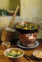 "Asie/Vietnam/Hanoi: Poisson ""Cha ca"" au restaurant ""Cha ca"" de Mme Loc"