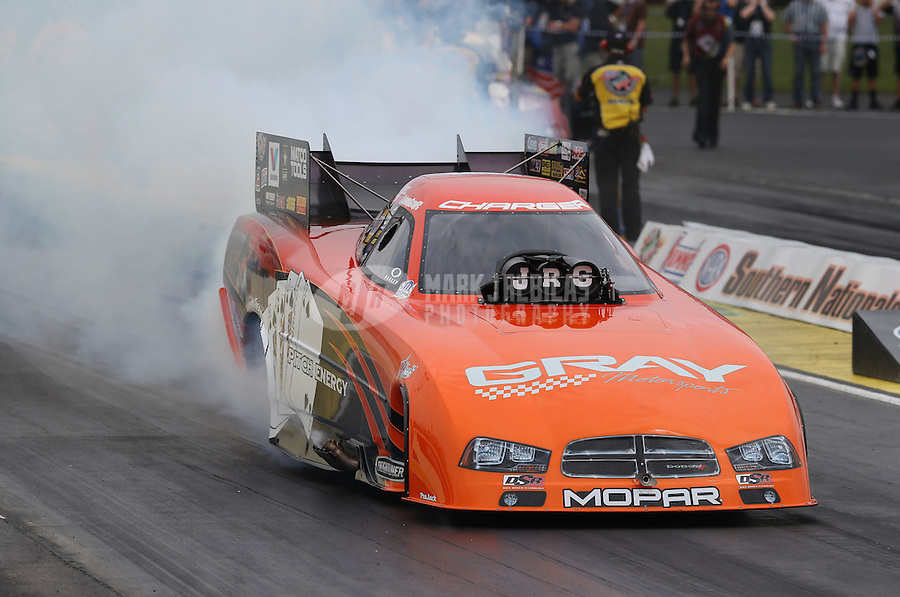 May 10, 2013; Commerce, GA, USA: NHRA funny car driver Johnny Gray during qualifying for the Southern Nationals at Atlanta Dragway. Mandatory Credit: Mark J. Rebilas-
